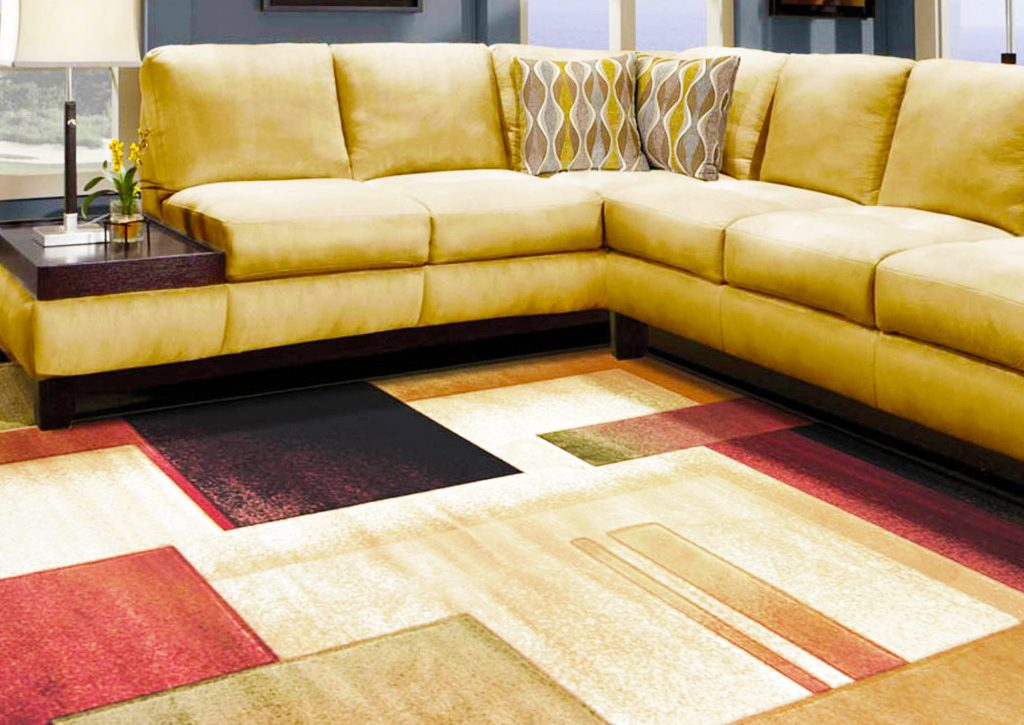 Carpet-tiles-in-living-room-with-cheap-carpet-with-modern-sectional-sofa-with-pattern-square-carpet
