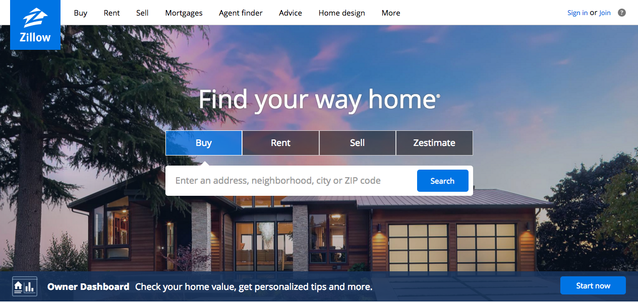 Buy house online via 5 best real estate websites roy for Zillow site
