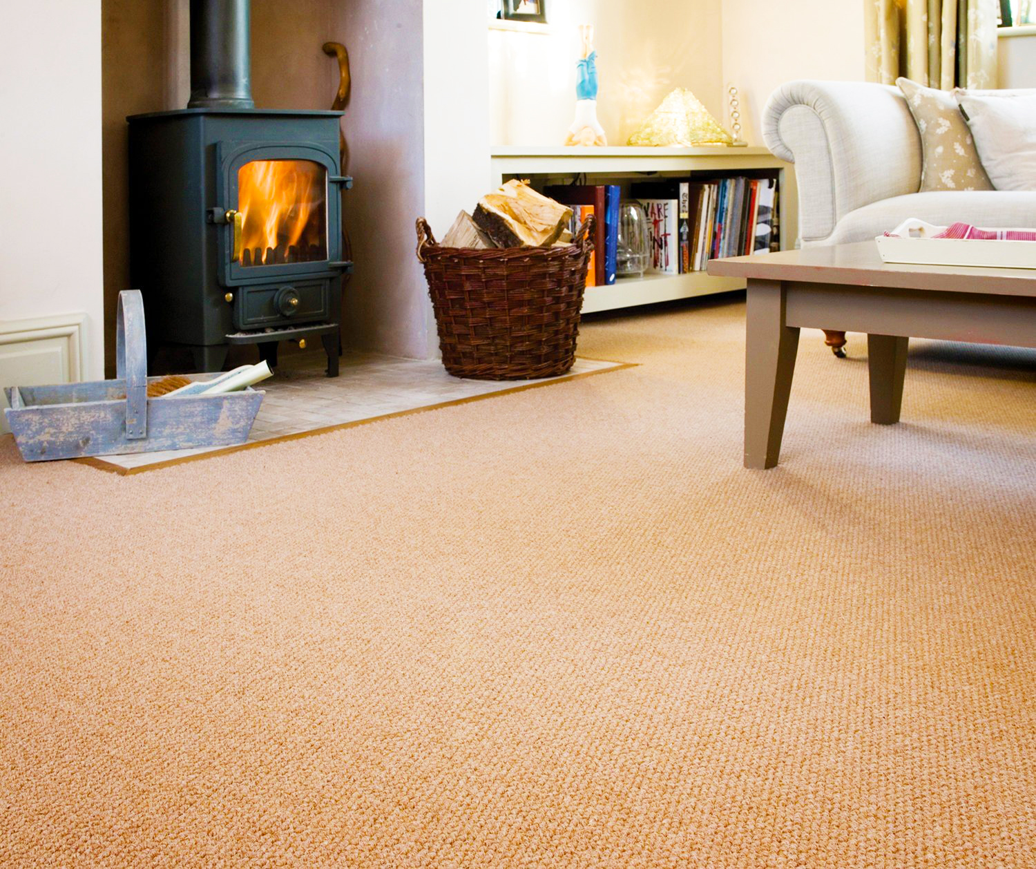 Carpet Tiles In Living Room And Installation
