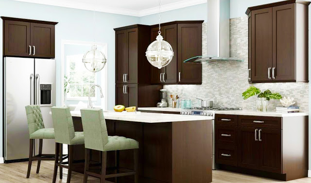custom-modern-rta-kitchen-cabinets-remodel-for-small-kitchen-designs-layout-with-wooden-kitchen-island-above-glass-pendant-lights-kitchen-design