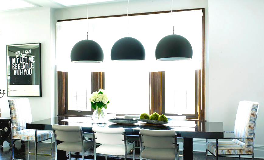 awesome-black-pendats-lights-decor-with-modern-interior-ideas-for-dining-room-ideas