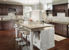 cheap-RTA-small-Espresso-Kitchen-Cabinets-with-White-Island-and-custom-kitchen-cabinets-remodel-picture-also-the-ideas