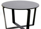 small and simple modern design black coffee table with round end tables for cocktail tables