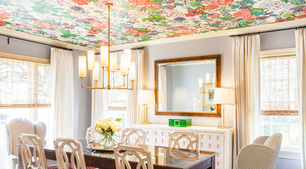 ceiling-wallpaper-tips-for-dining-room-and-wallpaper-a-room-also-how-to-paint-wallpaper