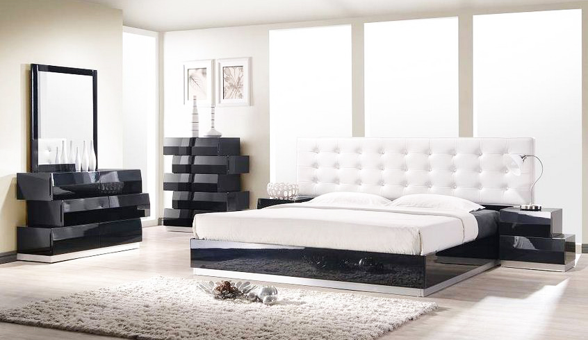 contemporary-style-bedroom-with-contemporary-style-beds-with-modern-tufted-black-and-white-bedroom-interior-designs-and-modern-black-wood-bedroom-furnitures