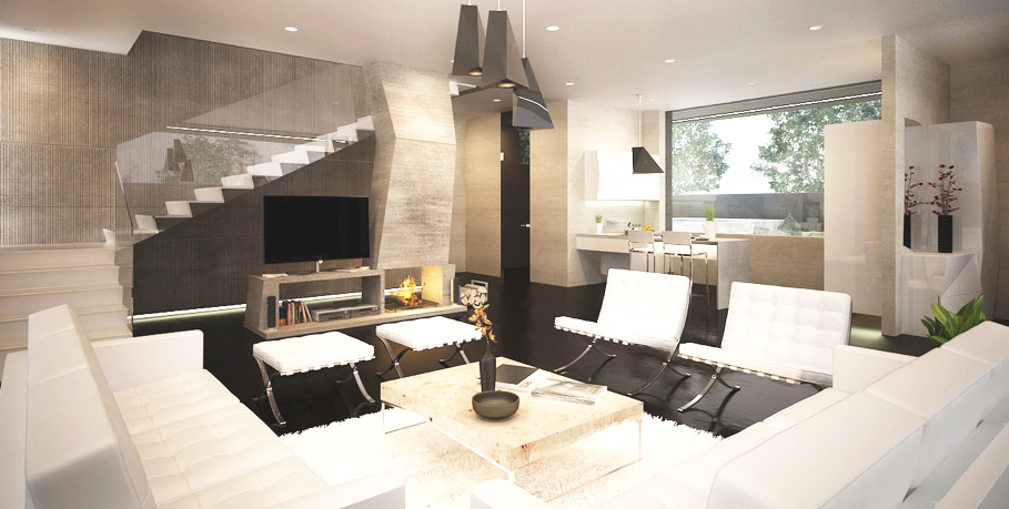 contemporary-style-interior-design-in-living-room-with-contemporary-style-sofa-with-white-pale-wooden-coffee-table-design-and-tufted-white-modern-love-seat-living-room-decor-ideas