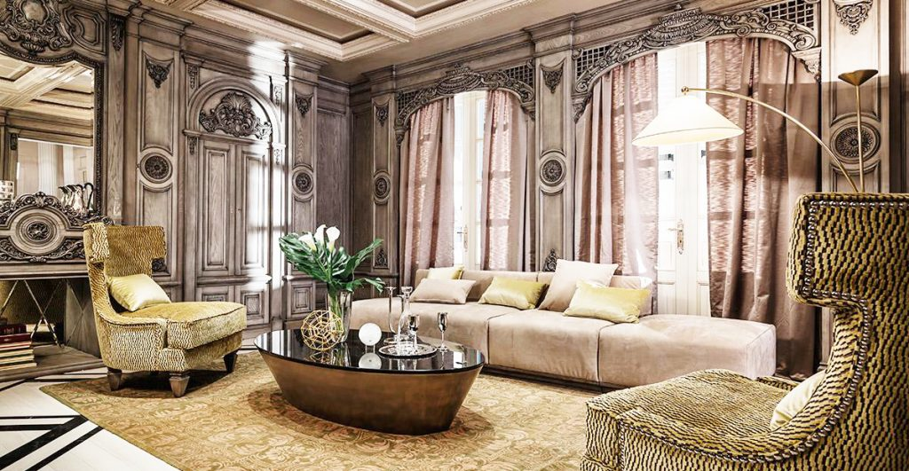 neoclassical-interior-home-design-with-home-decor-accents-and-inside-home-decor-ideas-with-coffee-table-glass-on-top-and-luxury-white-cushion-for-living-room