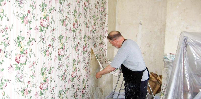 Removing Wallpaper Glue From Wall And Removing Wallpaper