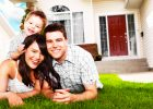 a family in smile because free online home insurance quotes with cheap online home insurance