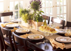black wood solid in decorate dinner table with ideas to decorate a dining room