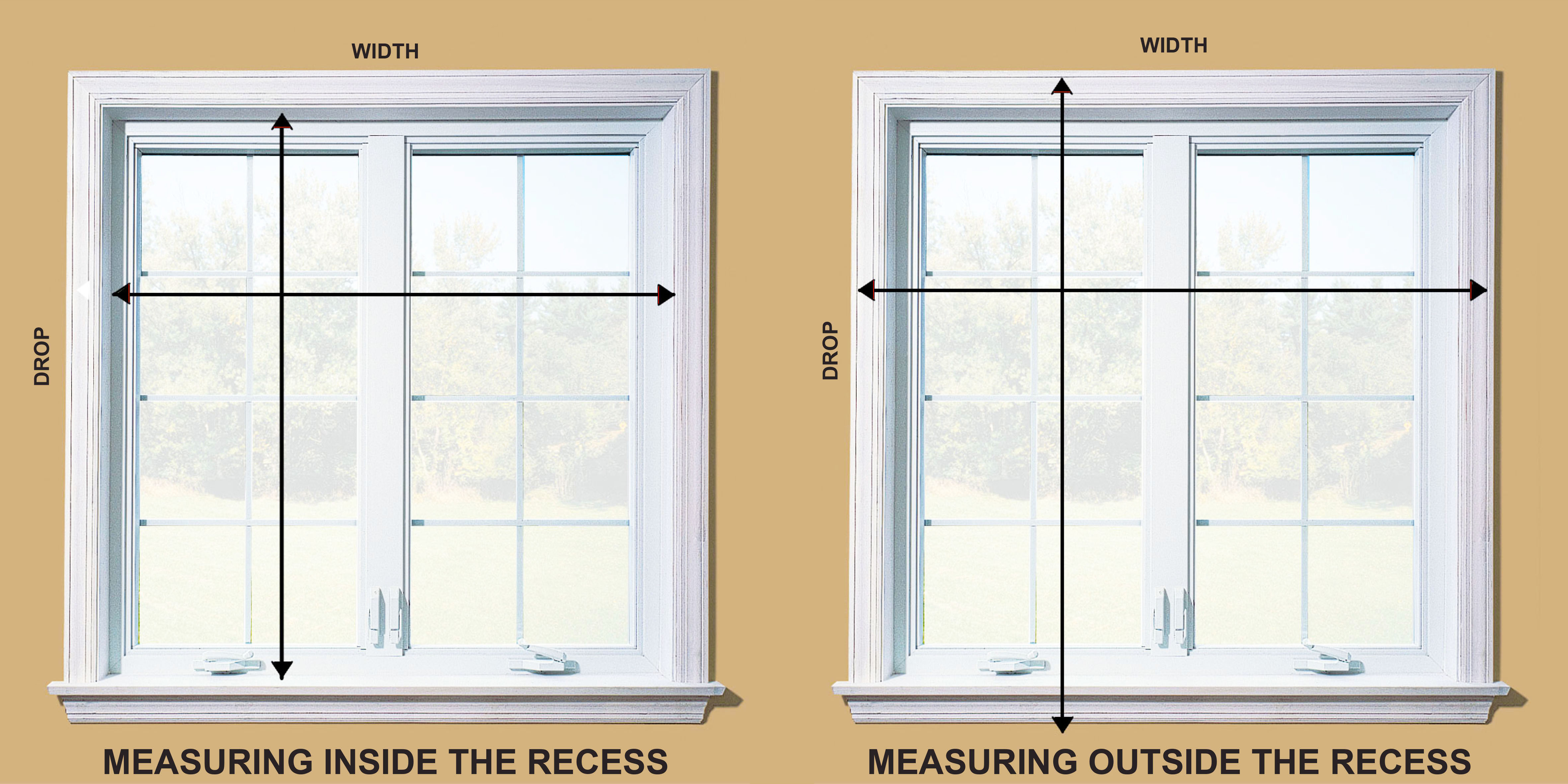 Window Blinds Installation For Measuring Accurately Feature Blinds Installation In The Outside Inside Window Recess