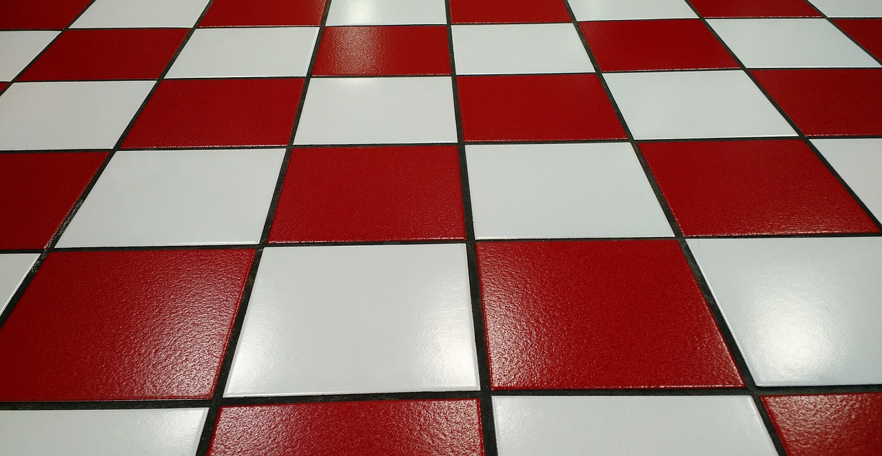 Ceramic Tiles With Red And White For House Floor Hard Floor Types In
