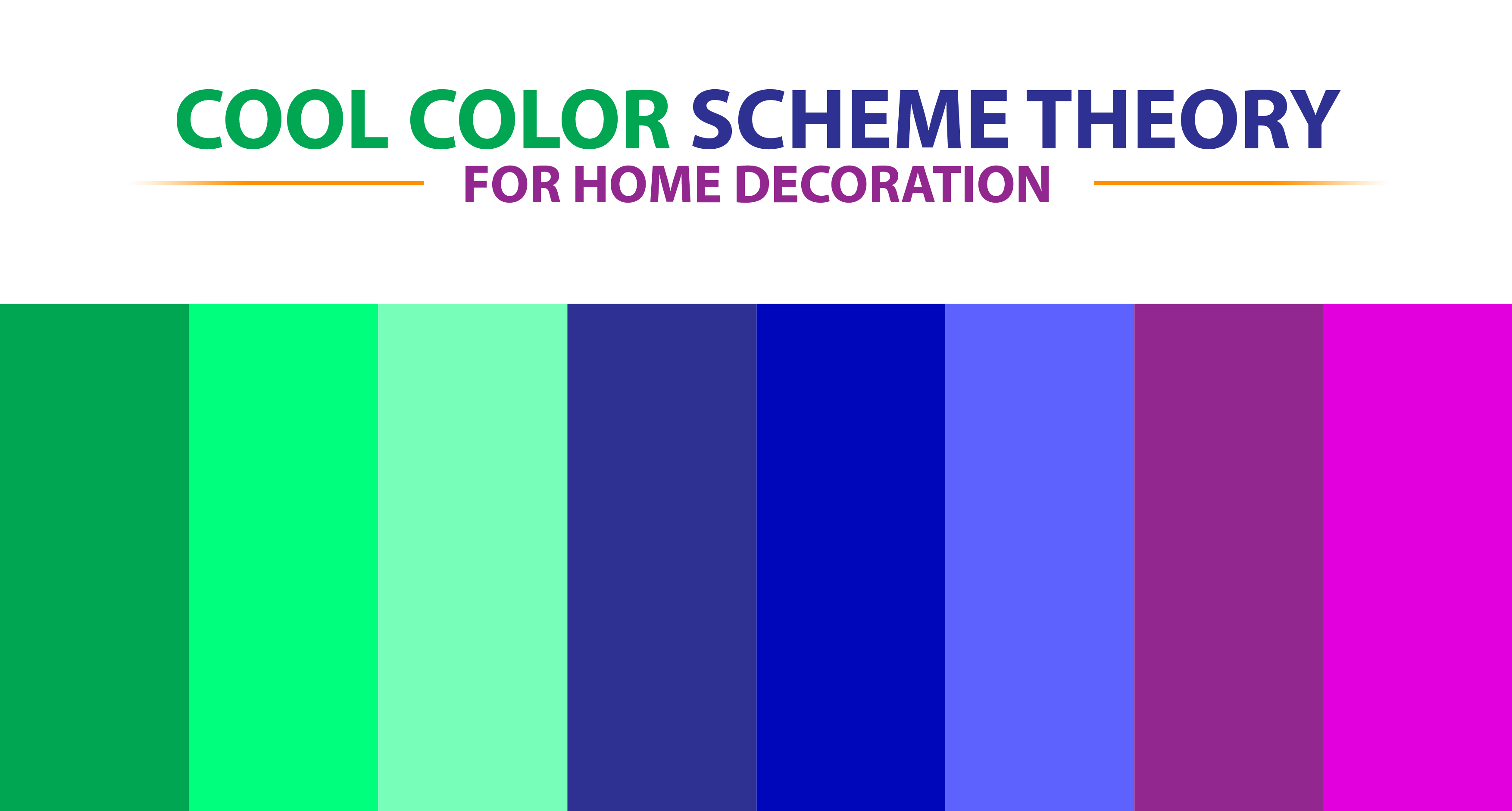 Cool color scheme theory for home decoration to combine matching color palette from the colour wheel design for best color combinations