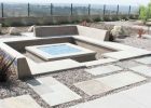concrete outdoor fire pit set for modern fire pit