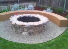 custom fire pit with round concrete bench for patio fire pit set