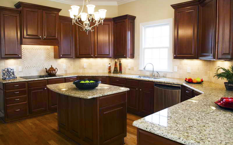 Espresso kitchen cabinets with granite or white kitchen cabinets with granite countertops are kitchen color trends and the most popular granite colors