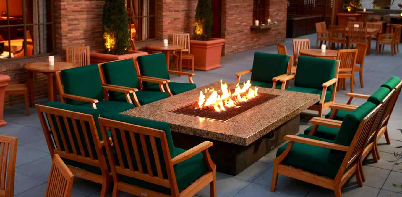 selecting the style of fire pit table