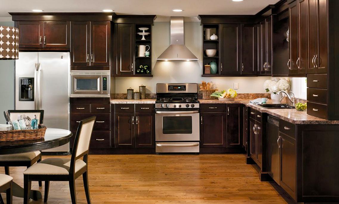 Be Brave to Apply Espresso Kitchen Cabinets with Granite ...