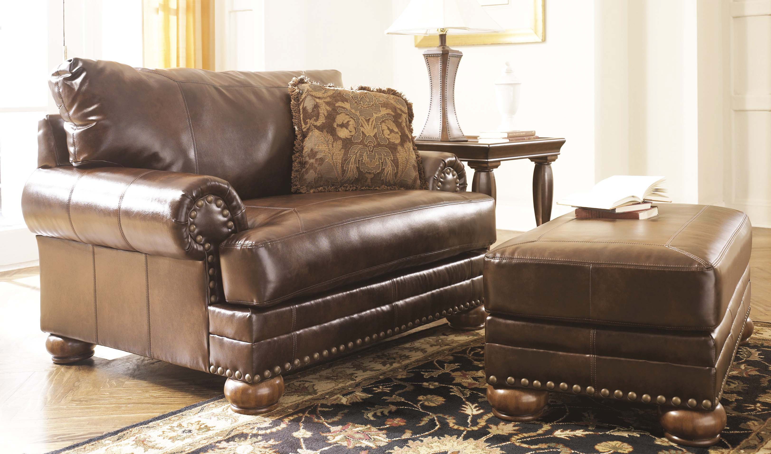How to decorate living room with leather chair ottoman roy home