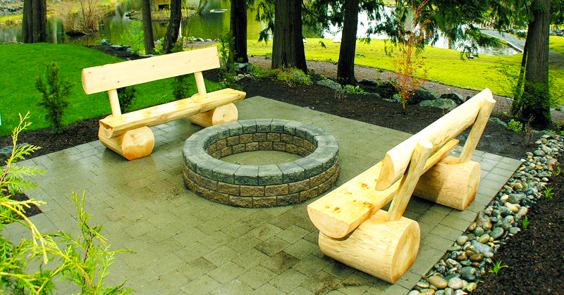 Wood Working Project Fire Pit Bench Diy Roy Home Design