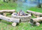 log fire pit benches for backyard outdoor round bench design for fire pit bench seating