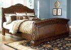luxury sleigh beds with cherry sleigh bed queen for sleigh bed bedroom sets