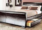 luxury sleigh beds with modern sleigh bed in black king size sleigh bedroom sets with leather sleigh king bed