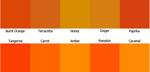 Different Shades Of Orange Paint warm color scheme theory for home decoration | roy home design