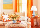 orange warm shades for warm lving room ideas with warm colour scheme