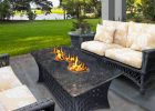 patio furniture with fire pit for outdoor propane fire pit coffee table