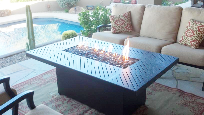 Important parts of rectangular fire pit table for outdoor propane fire pit coffee table with propane fire pit table in patio fire pit furniture set