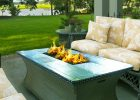 rectangle propane fire pit table for outdoor modern fire pit coffee table set