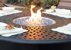 round propnae fire pit table for outdoor modern fire pit set in patio