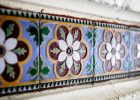 wall tiles wth floral design and floor tiles design for outdoor tiles