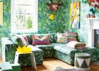wall with grass motifs for eclectic style in green color eclectic living room with eclectic interior design with wood floor to get eclectic style