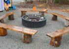 wooden fire pit bench design for backyard bench and outdoor fire pit benches