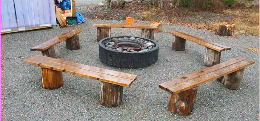 Wood working project fire pit bench diy roy home design Fire pit benches