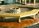 wooden outdoor half curved bench for backyard bench design fire pit with bench seating