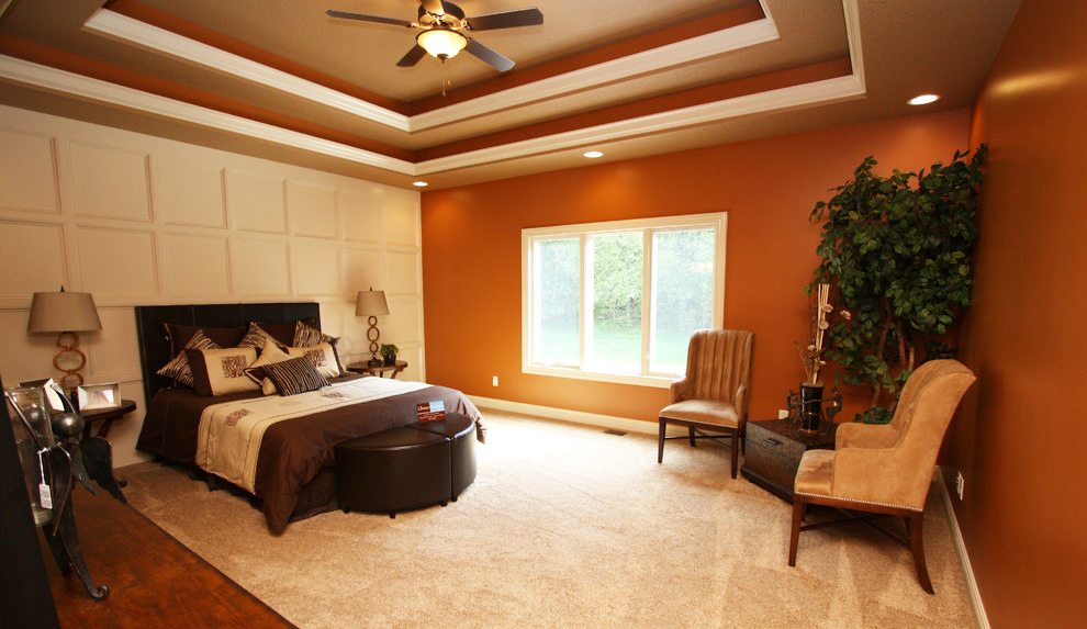 bedroom-ceiling-design-ideas-for-faux-tray-ceiling-ideas-in-modern-bedroom-design-with-white-wol-carpet