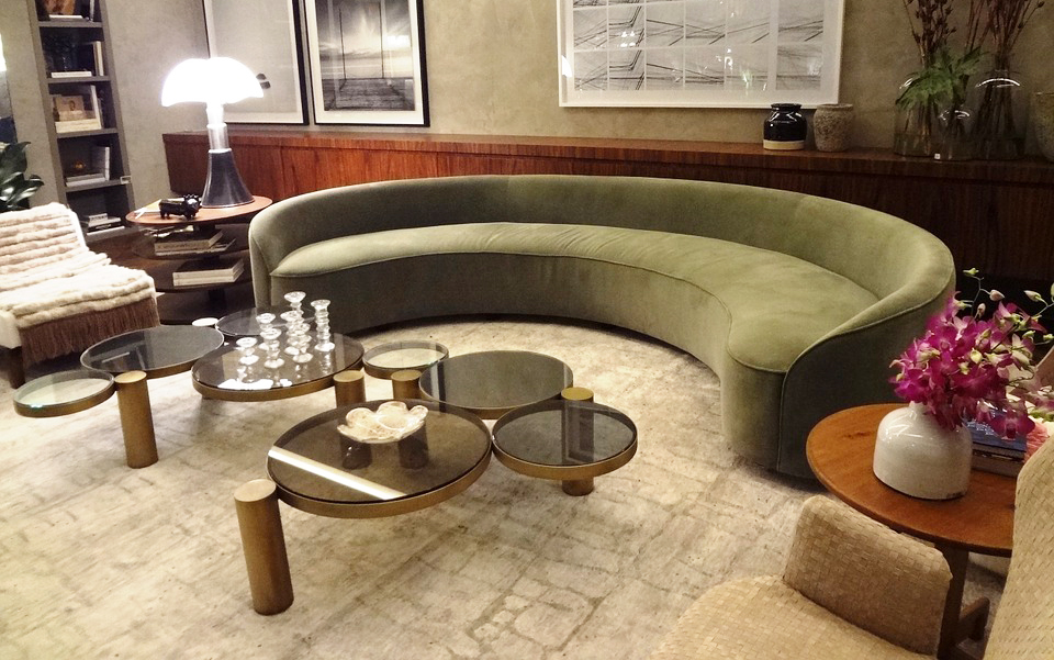 glass-round-coffee-table-for-living-room-with-unique-half-round-sofa-for-living-room-decorations