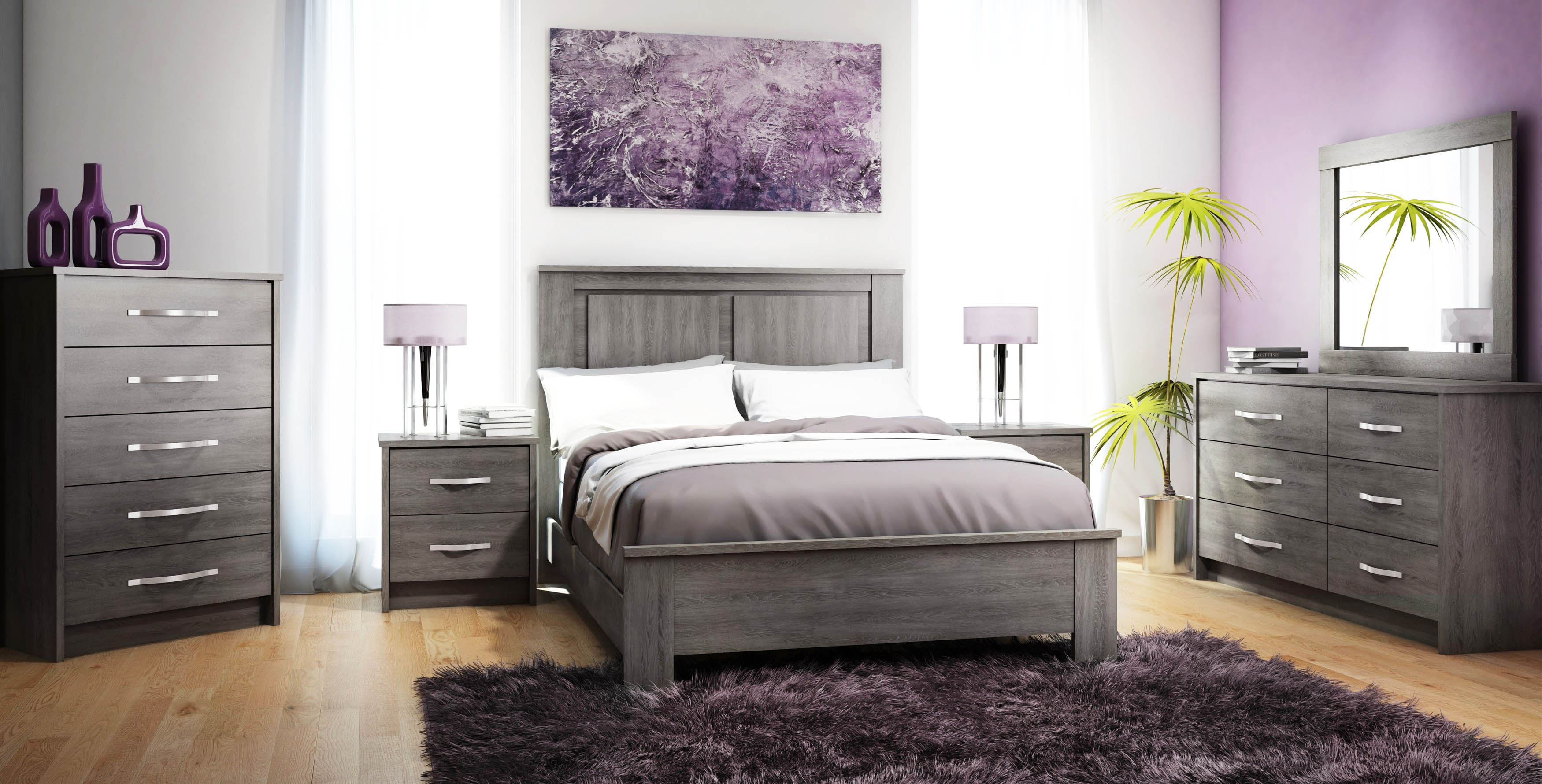 Grey bedroom furniture to fit your personality roy home design for Grey wood bedroom furniture set