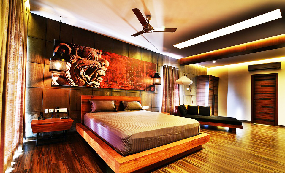 paint-colors-for-bedrooms-with-wall-wood-panel-with-wood-interior-home-painting-with-hardwood-flooring-and-bedroom-ceiling-fan