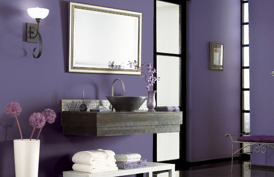 semi-gloss-paint-finish-with-purple-wall-paint-home-decor-wall-interior-with-mirror-and-sink