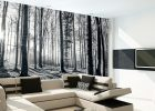 wall covering ideas black and white forest wallpaper mural for living room wall art decorations ideas