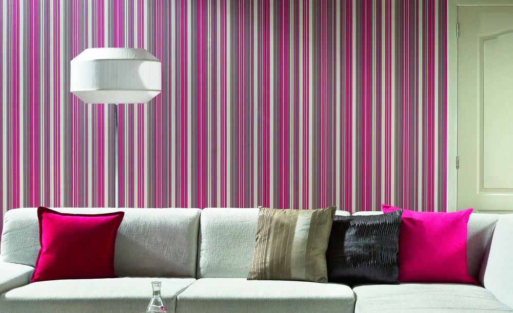 wall-covering-ideas-strips-pink-wallpaper-for-living-room-wall-decorations-ideas-with-white-sofa
