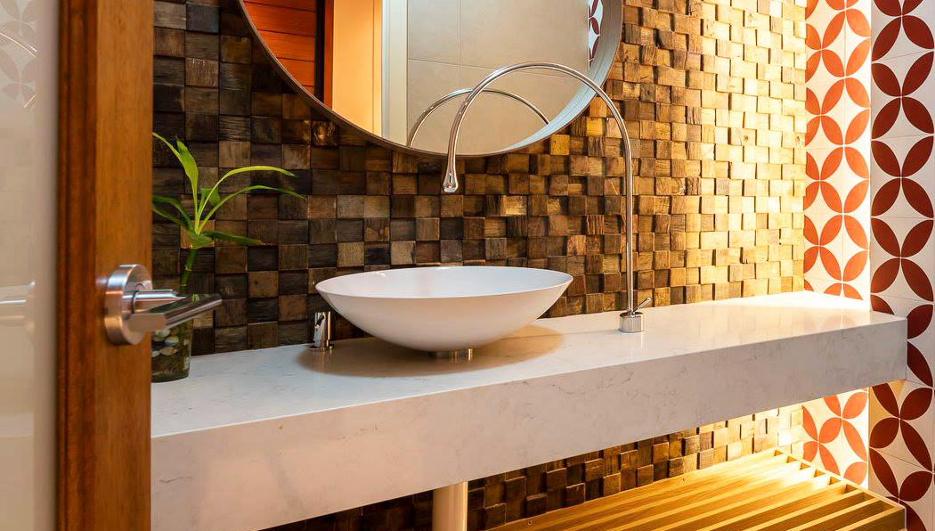 Wall covering ideas for a new home decoration roy home design Bathroom designs wood paneling