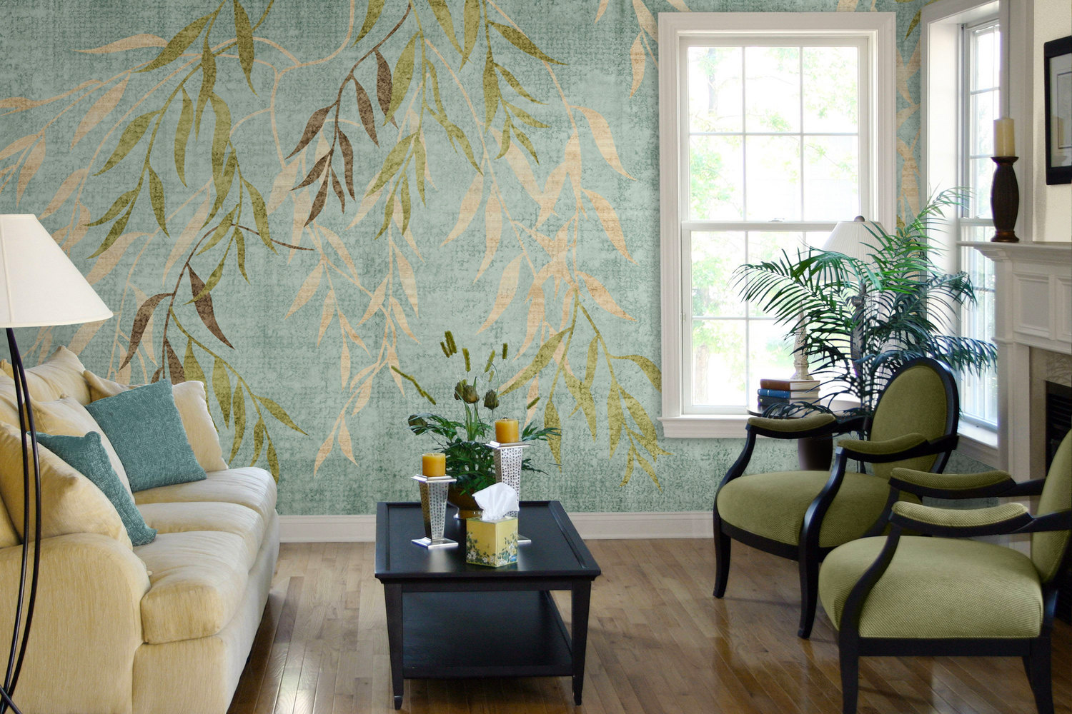wallcovering-ideas-with-natural-wall-muralsfor-wall-decoration-ideas-for-living-room-with-hardwood-flooring