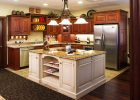 Best Makeover cheap custom kitchen cabinets for kitchens Ideas white wooden kitchen island also refinishing kitchen cabinet varnished lacquired brown metal base refrigerator