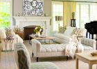 Living Room Furniture Arrangement Ideas with white tufted love seat and wood coffe table metal legs in the modern living room home furniture decorating ideas mixing hardwood flooring