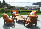 Outdoor furniture for modern patio outdoor furniture sets with wooden teak outdoor furniture sets in wood round coffee table and four wood chair design